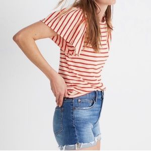 Madewell Striped Bell Sleeve Top